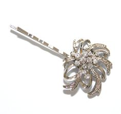 Dream - Wedding Hair Pins, Bridal Accessories, Silver, Rhinestones, Crystal, Vintage Style, Hair Pins. $10.00, via Etsy.