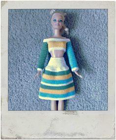Crochet - Barbie's Multi Colored Skirt