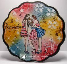 Joy!crafts Your Best Friend, Best Friends, Distress Ink, Friendship, Mixed Media, Joy, Tableware, Cards, Beat Friends