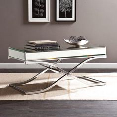 Layton Luxe Cocktail Table, Chrome, Silver
