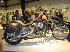 "Among the interesting motorcycles on display was the bike ridden by Lorenzo Lamas in the TV series ""Renegade"""