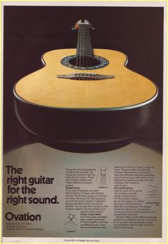 Ovation acoustic guitar ad