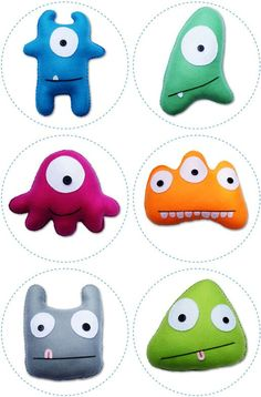 Cute monster shapes. Photo only!