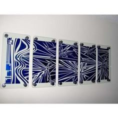 Handmade Art on Etsy - Contemporary Abstract 5 Panel Glass Wall Sculpture Art metal look by BIRDMAN81 | ThisNext
