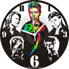 David Bowie - Laser Cut Vinyl Record Wall Clock upcycled from an Old Vinyl Record. are You a Fan of David Bowie are You Looking for a Present for a Friend who Loves David Bowie? David Bowie Pictures, Record Wall, Jim Henson, Creative Photos, Boutique, Vinyl Art, Decoration, Great Artists, Vinyl Records