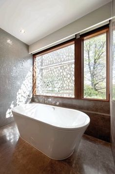Fairview St, Hawthorn - contemporary - bathroom - melbourne - Mills Gorman Architects.  Architectural Sunscreens Take the Heat Off Homes