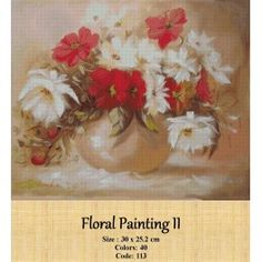 Cross stitch set - Floral Painting II