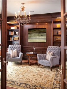 decorating a small bedroom masculine library with wood paneling interior 15099