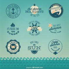 Badges de croisière rétro nautiques