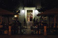 One of the bar/cafés on the Plaza de Oriente near Madrid's Palacio Real.