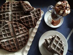 Gingerbread Waffles made gluten free, dairy free, egg free, soy free ...