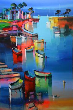 Les nouveautés – Eric Le Pape Eric Le Pape, Violin Art, Art Du Monde, Coastal Art, Pencil Art Drawings, Colorful Paintings, French Art, Drawing Techniques, New Artists