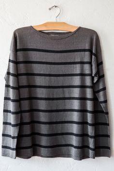 bomba grey/navy sweater