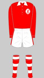 Liverpool home kit for 1950-51.