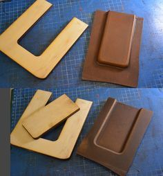 u-shaped wood guide for letter stamp alignment