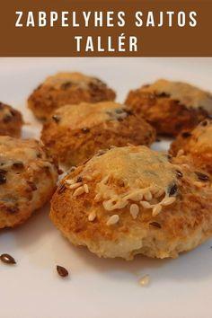 Ez a sajtos-túrós zabpelyhes pogácsa, gyorsan,nagyon könnyen elkészíthető. Gluténmentesen is! . Tea, kávé mellé, vagy uzsira finom, ropogós zabpelyhes pogácsa, tallér.. Muffin, Good Food, Diet, Breakfast, Recipes, Morning Coffee, Recipies, Muffins, Ripped Recipes