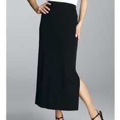 Misook Black Knit Maxi Skirt Currently for sale at Dillard's for $198.  Perfect condition. Misook Skirts Maxi