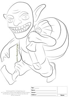 Free Printable Clash of Clans Goblin Coloring Pages - 2