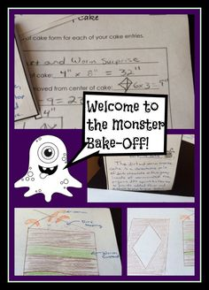 Can you win the monster bake-off?  Fun way to explore area and volume - student tested and approved!