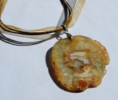 Druzy Geode Agate Crystal Gemstone Statement Necklace by TheseVagabondShoes, $21.00