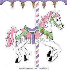 Royalty Free RF Carousel Horse Clipart Illustration By Pams