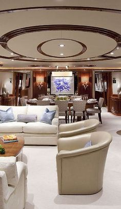Inspirational ideas about Interior Interior Design and Home Decorating Style for Living Room Bedroom Kitchen and the entire home. Curated selection of home decor products. Luxury Yacht Interior, Boat Interior, Luxury Yachts, Luxury Cars, Interior Design, Interior Office, Private Yacht, Bass Boat, Yacht Boat