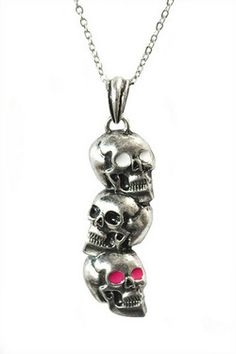 Skull Head Stack Necklace: Fuck That Girly Shit