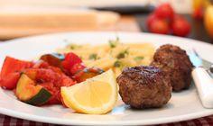 Kjøttboller med ratatouille og pasta | TRINEs MATbloggTRINEs MATblogg