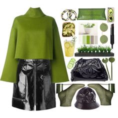 How To Wear #greenlovers Outfit Idea 2017 - Fashion Trends Ready To Wear For Plus Size, Curvy Women Over 20, 30, 40, 50