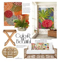 """""""Rug as Art"""" by arethaman ❤ liked on Polyvore featuring interior, interiors, interior design, home, home decor, interior decorating, Serena & Lily, Improvements, patio and designidea"""