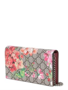 GUCCI - GERANIUM PRINTED COATED CANVAS WALLET - LUISAVIAROMA - LUXURY SHOPPING WORLDWIDE SHIPPING - FLORENCE Women's Handbags Wallets - http://amzn.to/2huZdIM