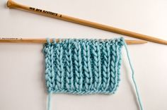 How to knit Fisherman's Rib Stitch | We Are Knitters Blog