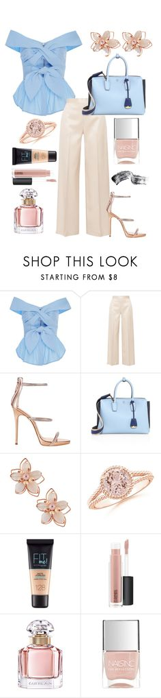 """[another day at the office]"" by broadwaygal13 ❤ liked on Polyvore featuring Johanna Ortiz, The Row, Giuseppe Zanotti, MCM, NAKAMOL, Maybelline, MAC Cosmetics, Guerlain, Nails Inc. and Bobbi Brown Cosmetics"