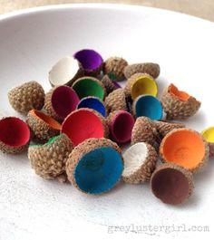 Painted Acorn Caps