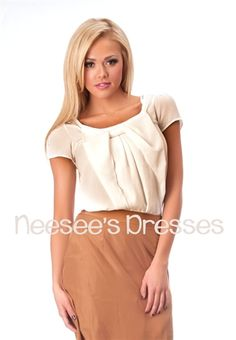 White Chiffon Bow Front Top