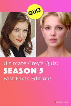 Only a true fan can pass this season 5 Grey's Anatomy quiz all about Seattle Grace, the doctors and the patients. #greys #GreysAnatomy #greysseason5 #season5 #greysquiz #greysnostalgia #greysAnatomyTrivia #mcdreamy #izziestevens #greystragedies #greysdeath #greysanatomyscene