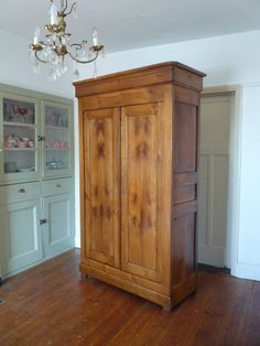 UK based online boutique specialising in authentic French armoires, antique mirrors and French decorative accessories. French Armoire, French Mirror, French Furniture, Vintage Furniture, Linen Cupboard, Uk Homes, Hanging Rail, Honey Colour, A Shelf
