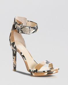 Calvin Klein Open Toe Platform Sandals - Vivian High Heel | Bloomingdale's