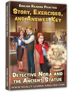 Free booklet for English teachers and learners (intermediate level). It contains a detective story, glossary, exercises, and answers. It's free to download if you share the page!