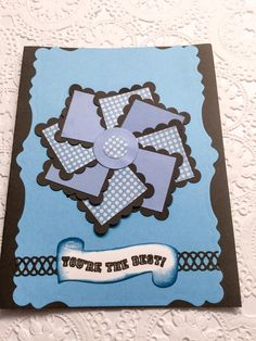 Handmade cards - you are the best - masculine birthday - postcard - flower cards - pinwheel - lighthouse - dolphin - lime green - wcards by Wcards on Etsy