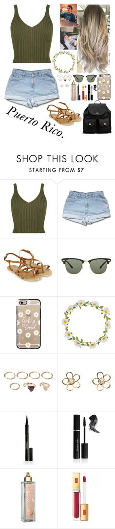 """Puerto Rico With Sammy."" by uniqu3ly-m3 ❤ liked on Polyvore featuring Accessorize, Ray-Ban, Casetify, Carole, Forever 21, CO, Elizabeth Arden and Coach"