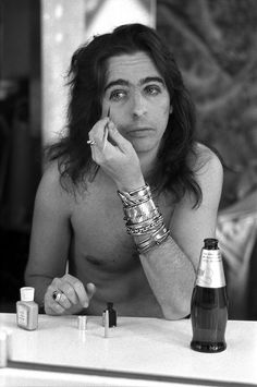 Alice Cooper had his own mascara line back in the day called Whiplash