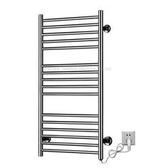 133.00$  Buy now - http://alibxq.worldwells.pw/go.php?t=32636748983 - 1pcs Heated Towel Rail Holder Bathroom AccessoriesTowel Rack Stainless Steel ElectricTowel Warmer Towel Dryer 120W