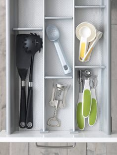 Beau Love This IKEA Drawer Divider! A Little Organization Goes A Long Way For  All Those Kitchen Trinkets!