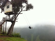 Located in Baños, Ecuador at La Casa del Árbol (The Treehouse),