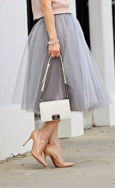 New Arrival Women Lady Tulle Princess Tutu Ball Gown Party Prom Bespoke Skirts Grey Tulle Skirt, Tulle Skirts, Midi Skirt, Dame Chic, Love Fashion, Womens Fashion, Fashion Trends, Skirt Fashion, Trendy Fashion