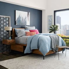 Nash Storage Bed - Teak   west elm