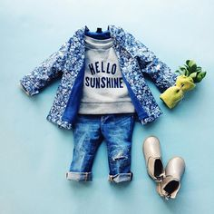 hello sunshine! a floral rain jacket makes any day better. babygap