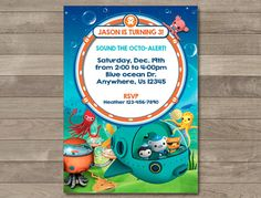 Octonauts Invitation Octonauts Birthday invitation by MKellyDesign