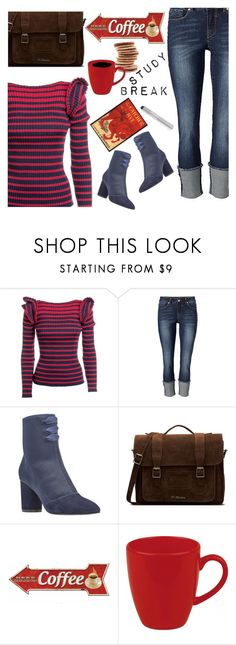 """milk & cookies"" by paperdollsq ❤ liked on Polyvore featuring MSGM, Nine West, Dr. Martens, Grace, Waechtersbach and Orlane"